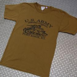 HOUSTON(ヒューストン) PRINT T-SHIRTS [U.S.ARMY ARMORED COMMAND]