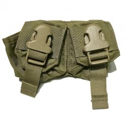 US(米軍放出品)EAGLE SFLCS V2 Double Frag Grenade Pouch Khaki [イーグル製 ダブルフラッググレネードポーチ カーキ][FRAG GRENADE PCH DBL V2][MOLLEスタイル]