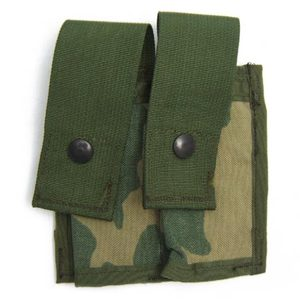 【US/米軍放出品】40mm High Explsive Pocket Double MOLLE [Woodland]