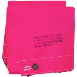 US(米軍放出品)シグナルパネル [180cm×49cm][Cambria County Association][VS-17/GVX ][High Visibility Pink&High Visibility Orange]