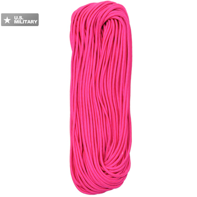 【MILITARY】7-Strand パラコード 550 Type-III [100FT/30m][Neon Pink]