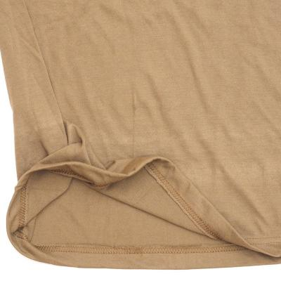 【US/米軍放出品】【イレギュラー】ミリタリー Tシャツ ブラウン コットン100