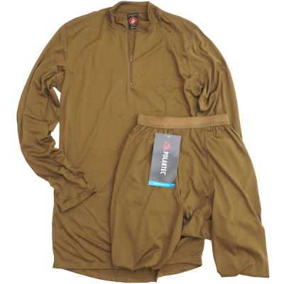 US(米軍放出品)USMC Level 1 Coyote SILKWEIGHT UNDERSHIRT & DRAWER アンダーウエア 上下セット コヨーテ [Polartec Power Dry]
