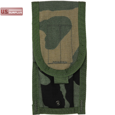 【US/米軍放出品】MOLLE M-4 Two Mag Pouch Woodland