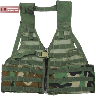 US(米軍放出品)MOLLE II Fighting Load Carrier(FLC)Vest w/ Zip Woodland ファイティングロードキャリアー